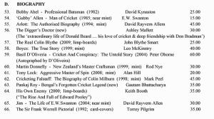 Roger Page Cricket Book December Catalogue 2014 Cricket Biographies