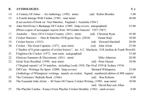 Cricket Anthologies June 2015 Roger Page Cricket Books