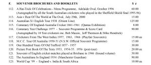 Cricket Souvenir Booklets and Brochures June 2015