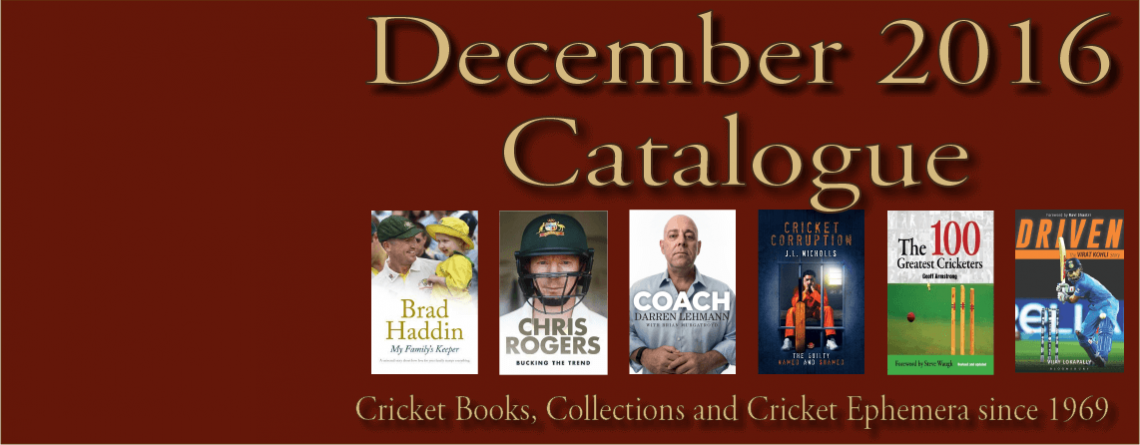 December 2016 Catalogue Cricket Books