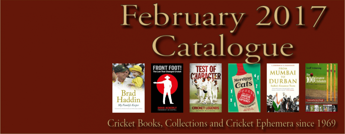 February 2017 Catalogue Cricket Books