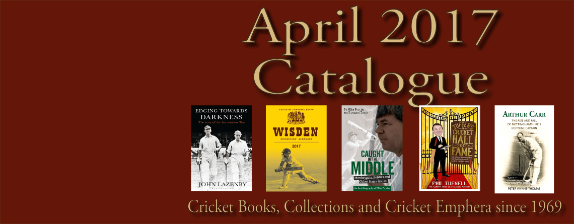 April 2017 Catalogue Cricket Books
