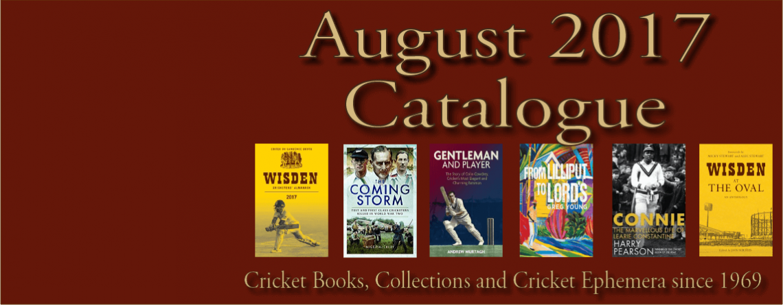 Catalogue Cricket Books and Memorabilia August 2017