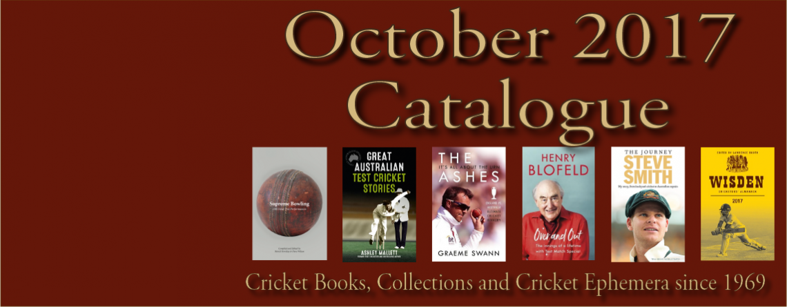 Catalogue Cricket Books and Memorabilia October 2017
