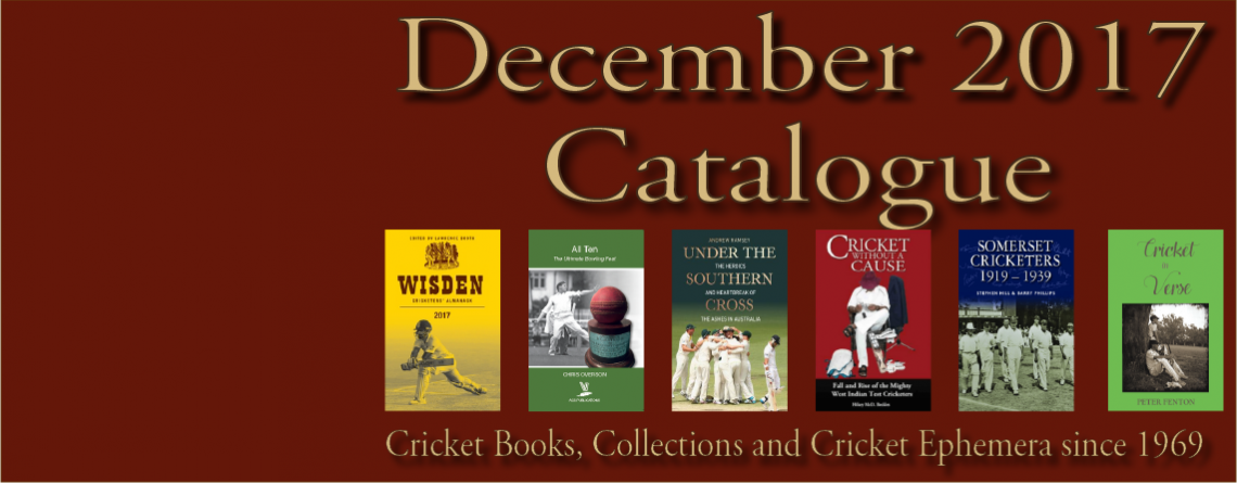 Catalogue Cricket Books and Memorabilia December 2017