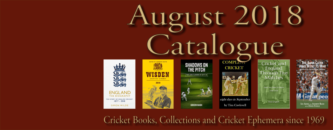 Roger Page Cricket Books Catalogue August 2018