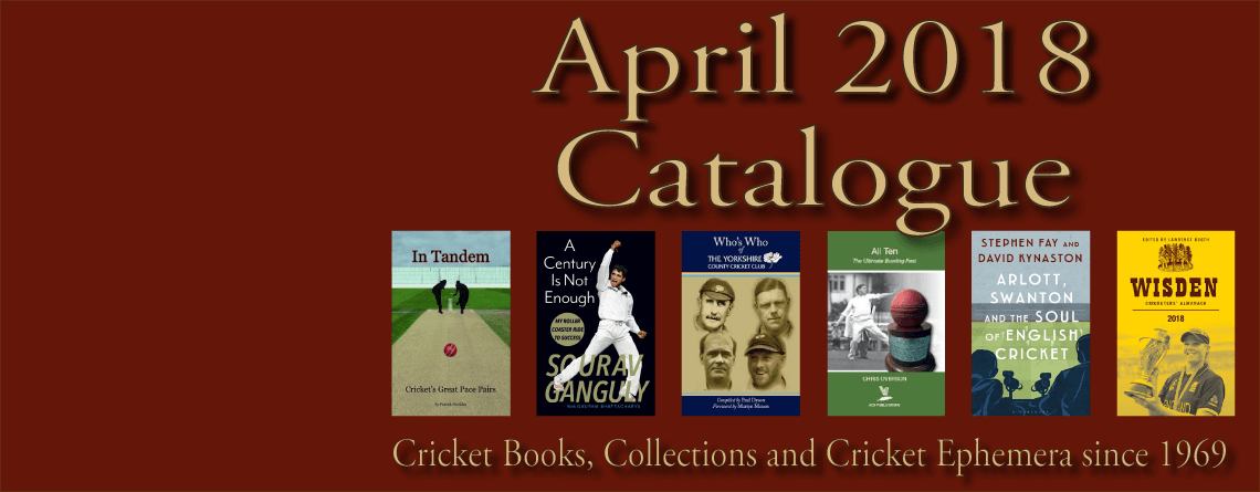 Roger Page Cricket Books Catalogue April 2018