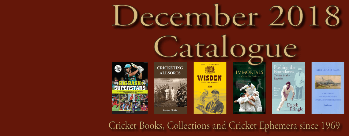 Roger Page Cricket Books Catalogue December 2018