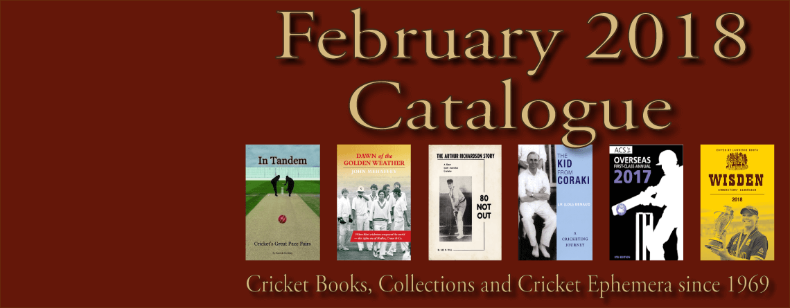 Roger Page Cricket Books Catalogue February 2018