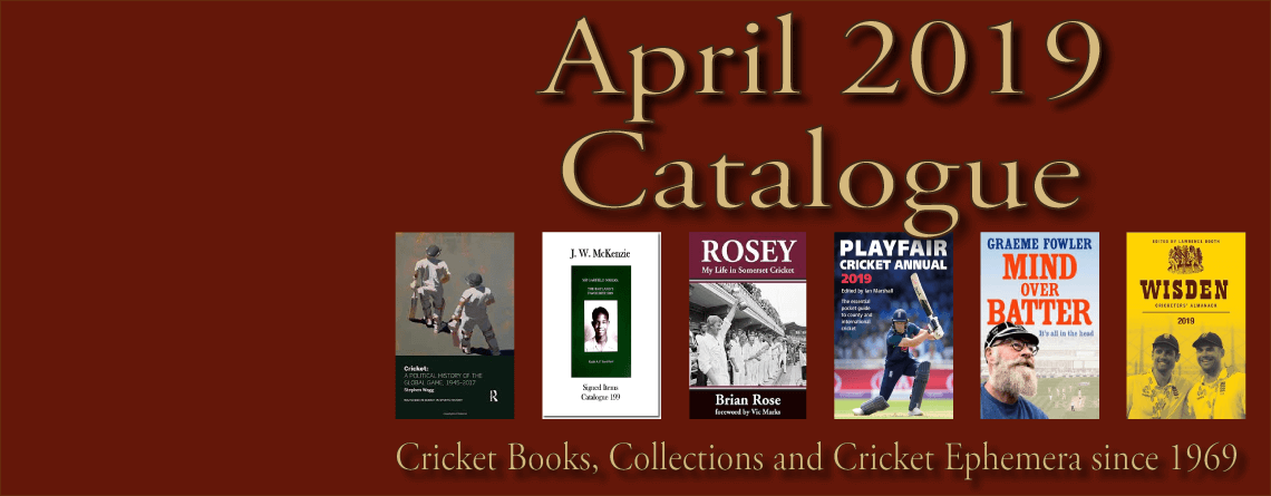 Roger Page Cricket Books Catalogue April 2019