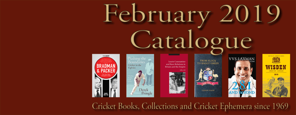 Roger Page Cricket Books Catalogue February 2019